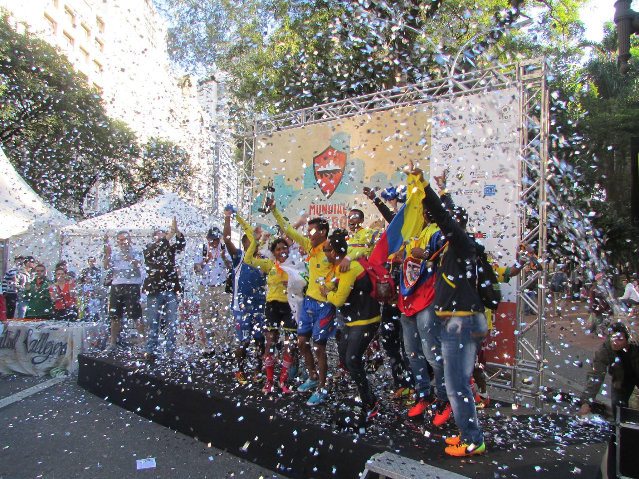 Colombia Campeón Mundial Fútbol Callejero Brasil 2014