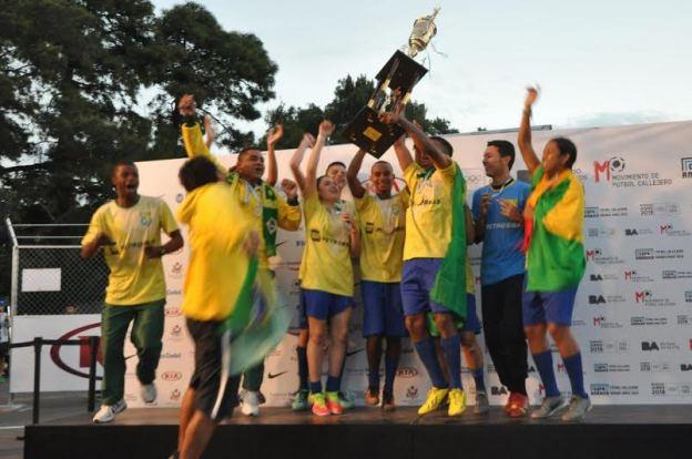Brasil Campéon Copa América Futbol Callejero Buenos Aires 2015