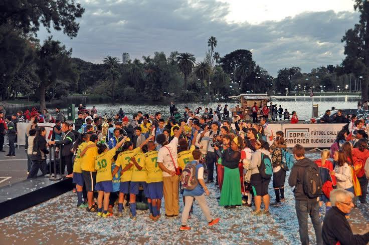 Brasil Campéon Copa América Futbol Callejero Buenos Aires 2015 El Rosedal