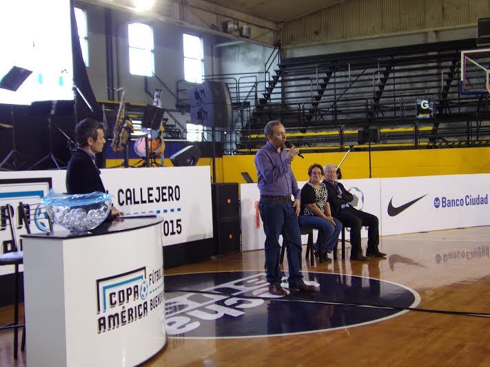 Fabián Ferraro Nelsa Curbelo Sorteo Copa América Fútbol Callejero Buenos Aires 2015